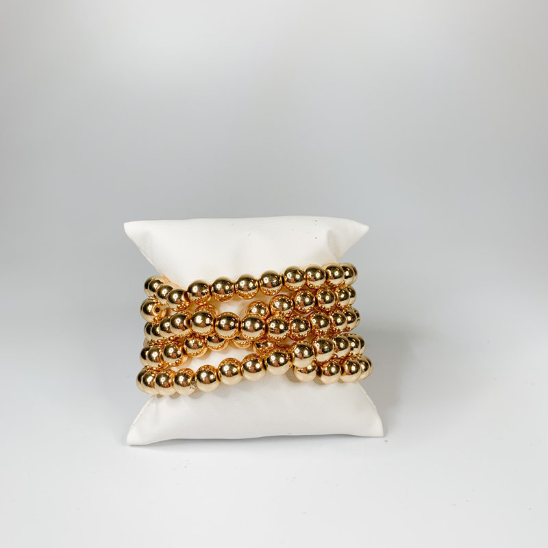 Catherine Canino Large gold bead stretchy bracelet