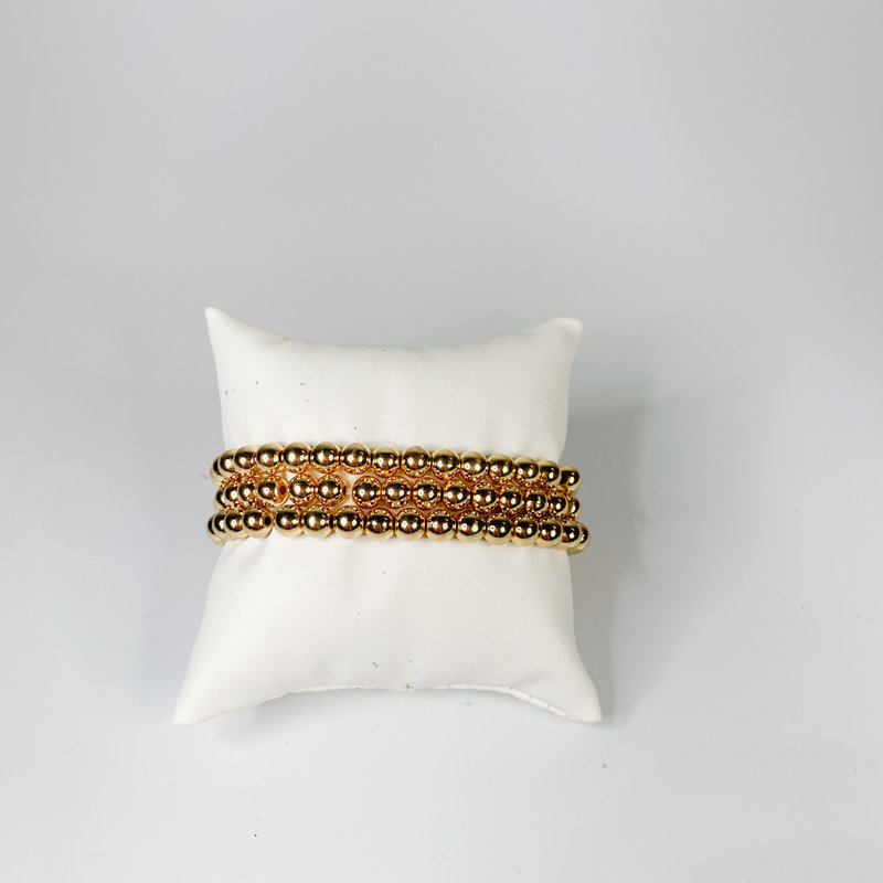 Catherine Canino Small stretchy gold bead bracelet