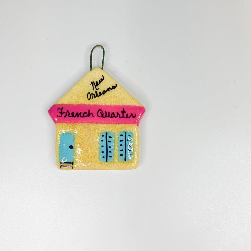 Crescent City Ornament Shotgun Ornament Yellow