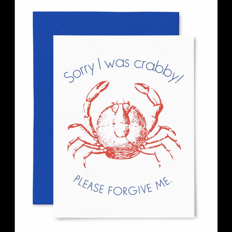 Color Box Letterpress Crabby