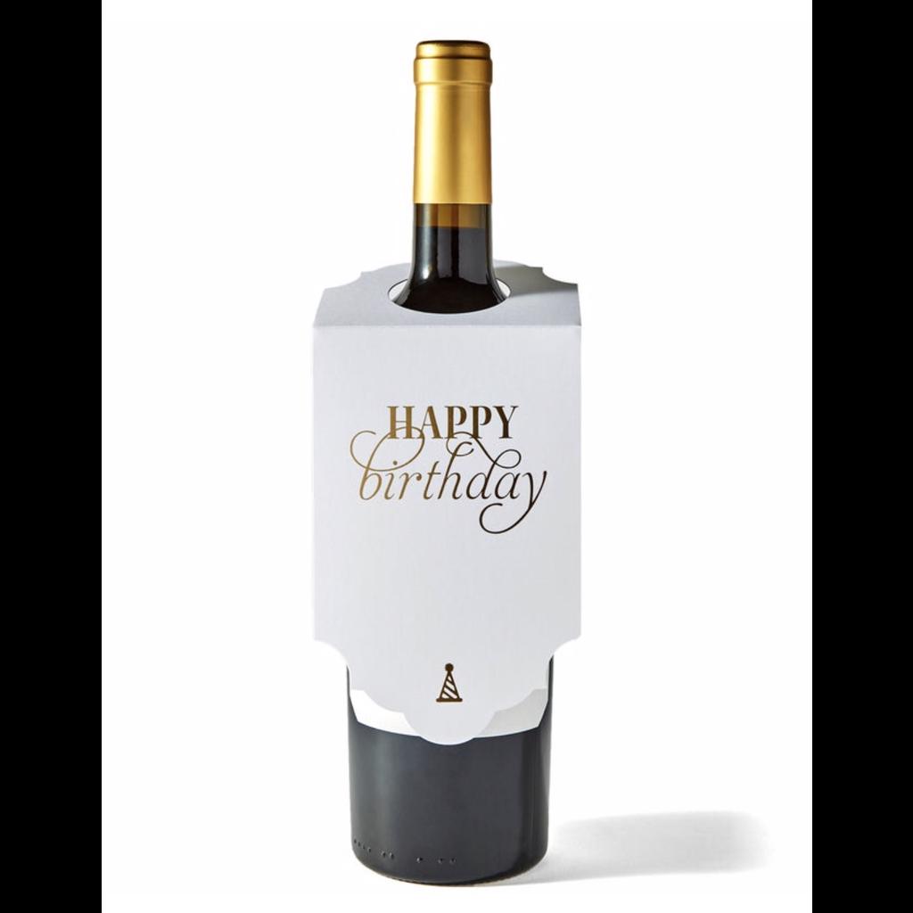 Color Box Letterpress Happy Birthday Wine Tag