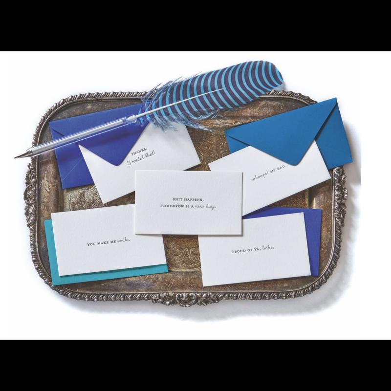 Color Box Letterpress Everyday- EMOTICARDS