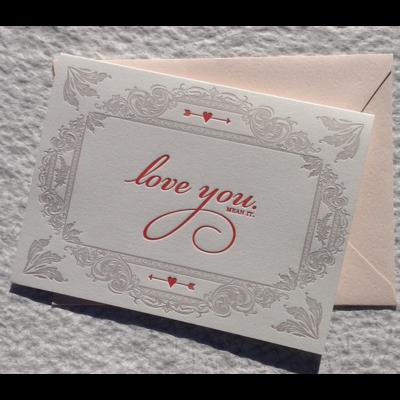Color Box Letterpress Love You, Mean It