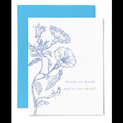 Color Box Letterpress Thanks Sweet