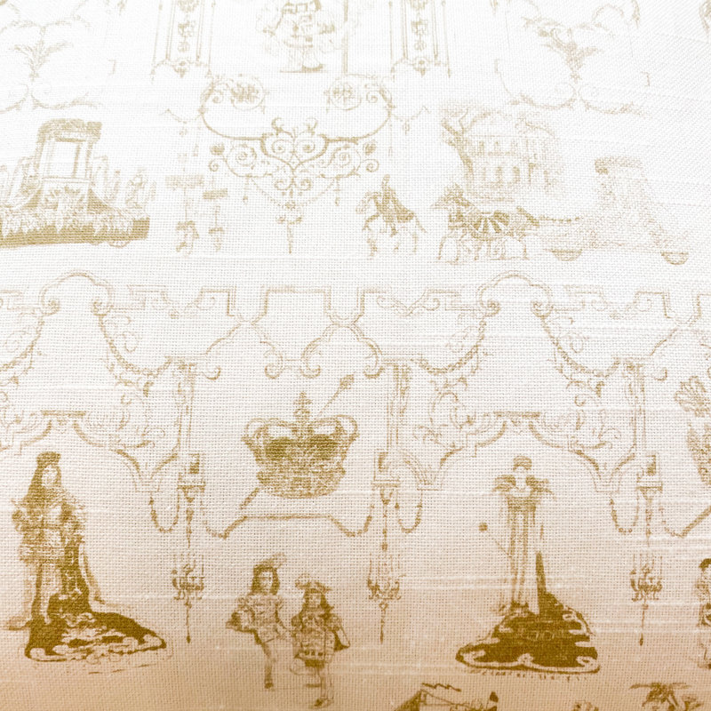 Jennifer Grehan Jennifer Grehan Mardi Gras Toile Pillow