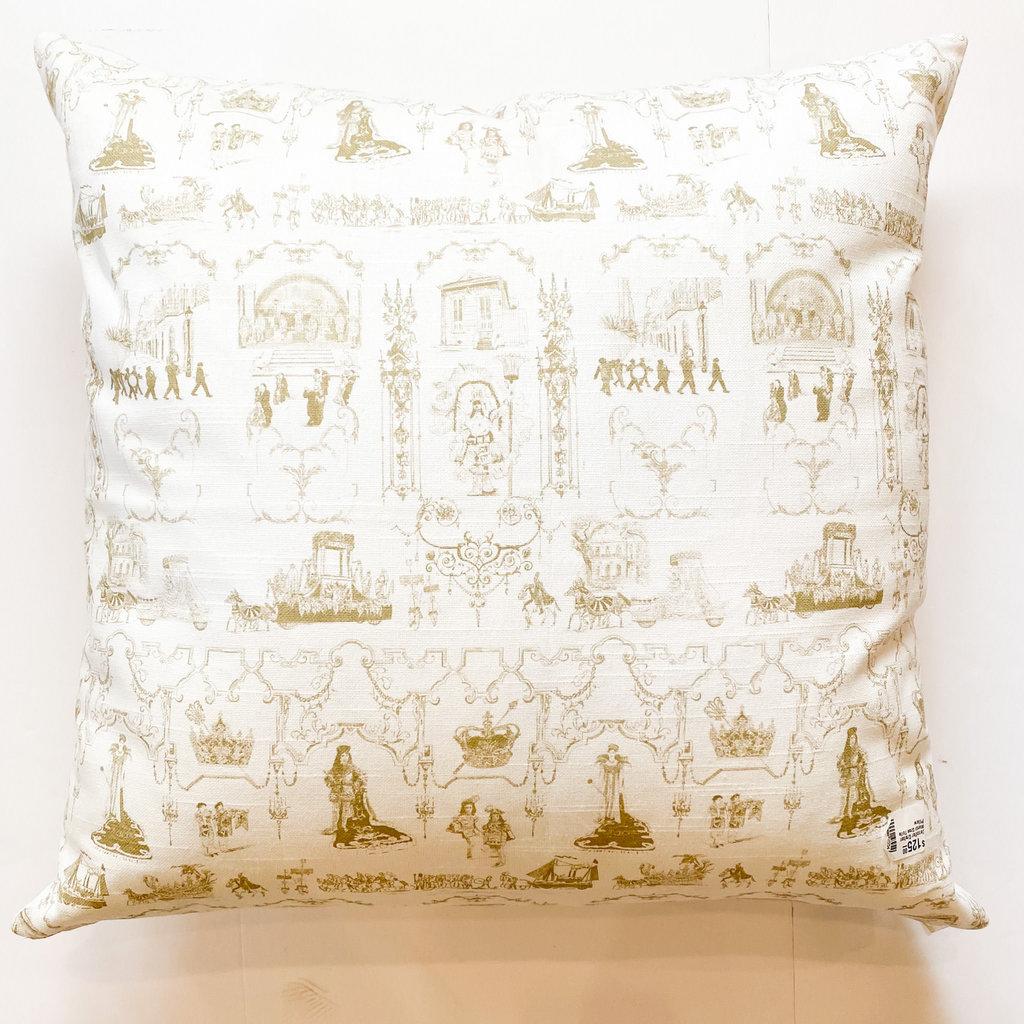 Jennifer Grehan Jennifer Grehan Mardi Gras Toile Pillow