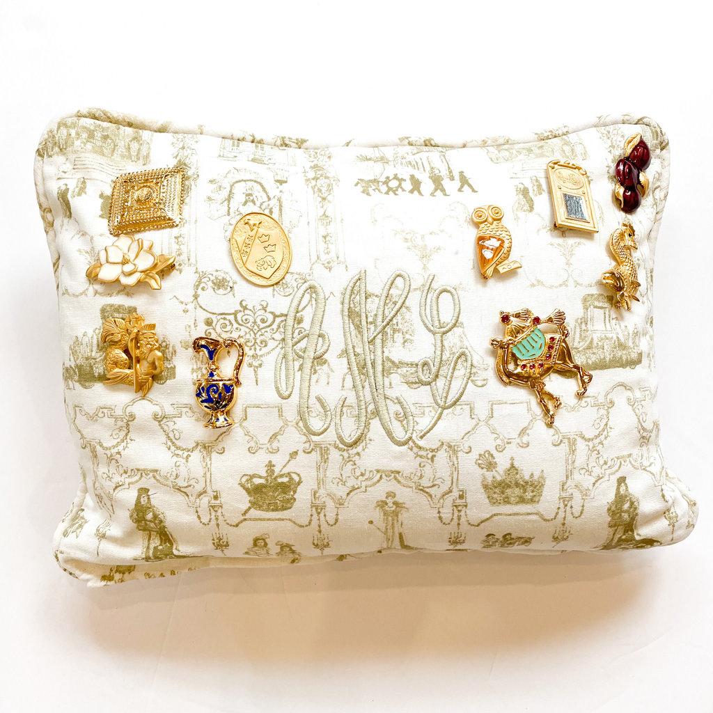 Jennifer Grehan Jennifer Grehan Mardi Gras Toile Pillow (Small)