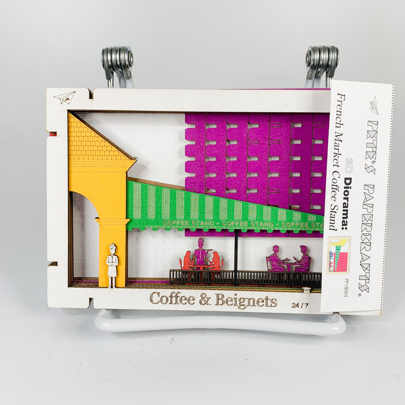 Pete's Papercraft Coffee Stand Diorama