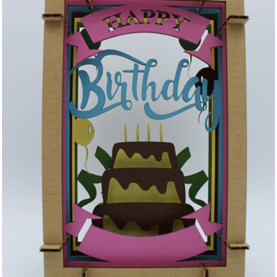 Pete's Papercraft Happy Birthday Diorama