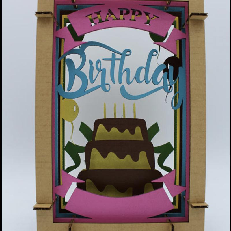 Pete's Papercraft Happy Birthday Diorama
