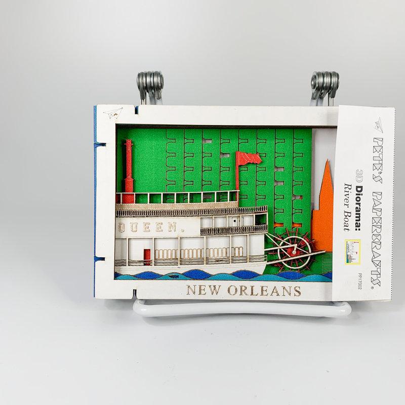 Pete's Papercraft Riverboat Diorama