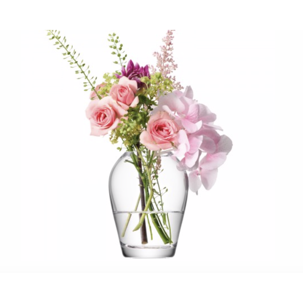 LSA Flower Mini Bouquet Vase H3.75in Clear