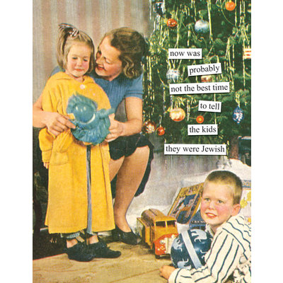 Anne Taintor Holiday Card - Jewish