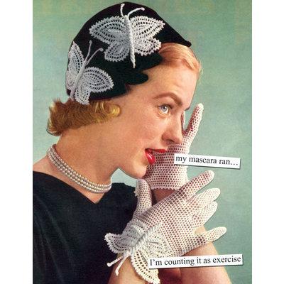 Anne Taintor birthday card - mascara