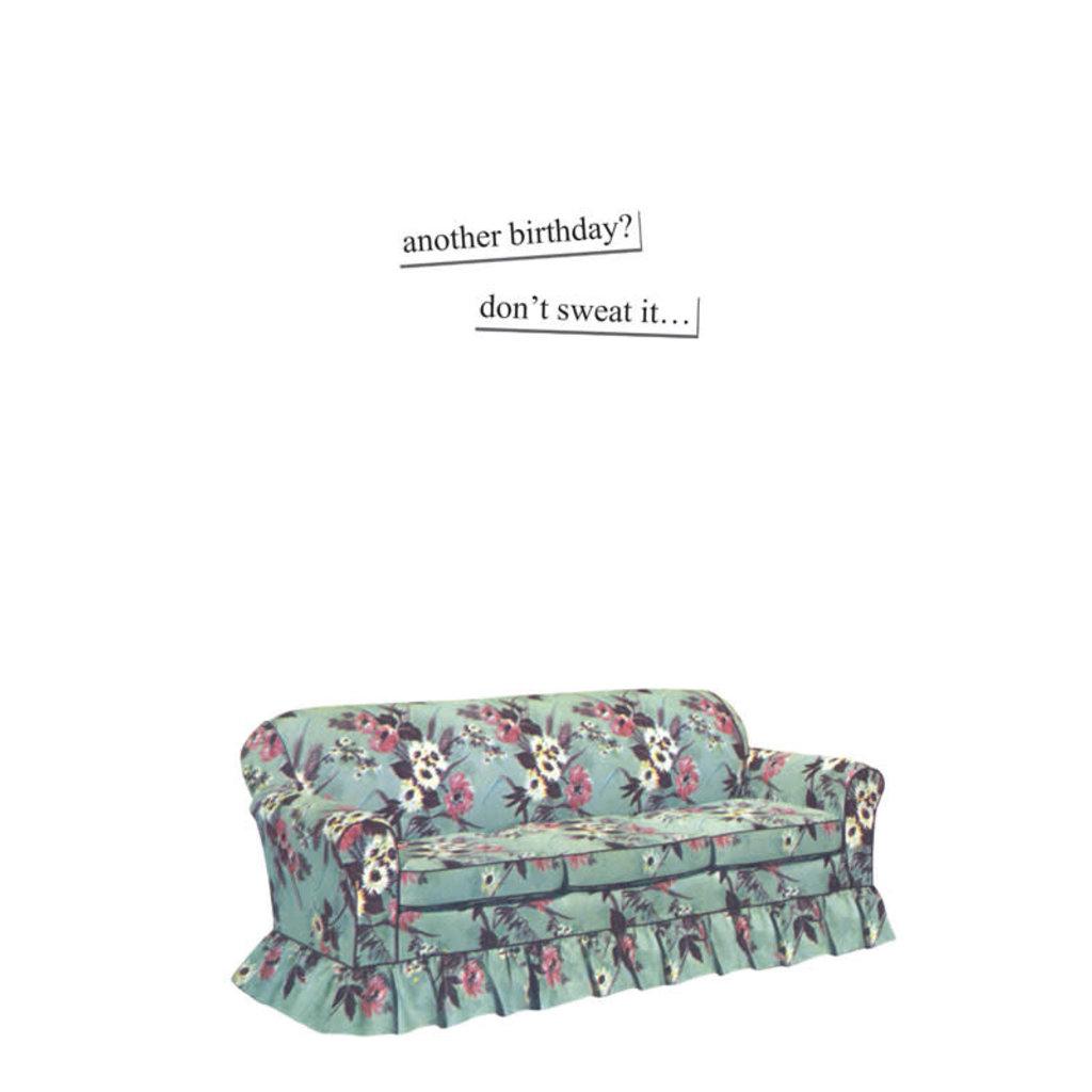 Anne Taintor birthday card - yoga