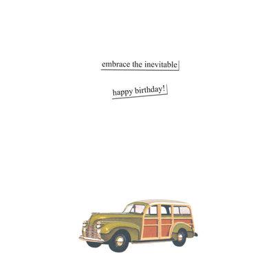 Anne Taintor birthday card - mini van