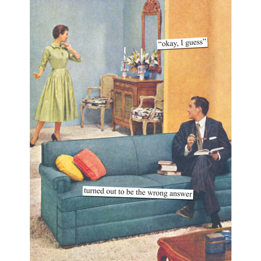 Anne Taintor birthday card - okay I guess