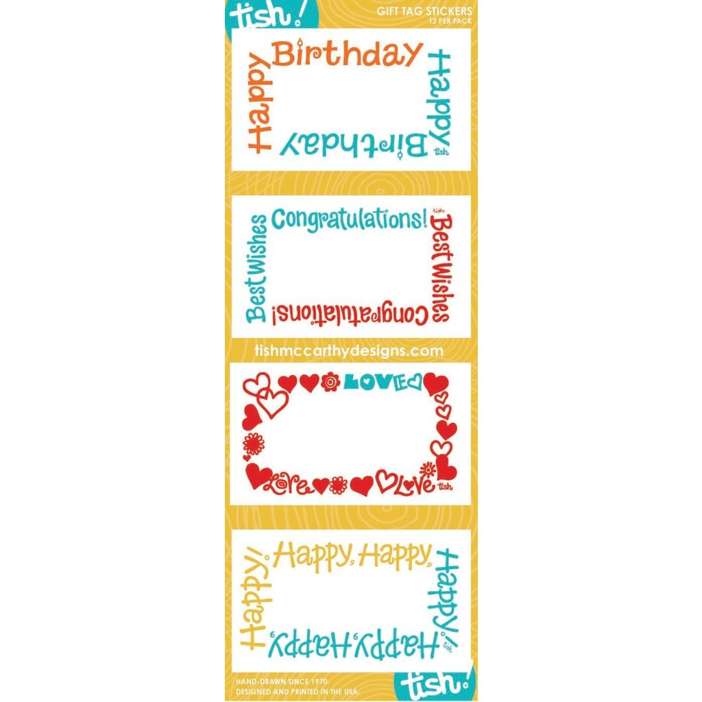 Tish McCarthy Tish McCarthy Mixed Yellow Gift Card Stickers