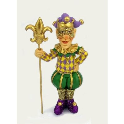 Piazza Jester with Fleur de Lis Ornament