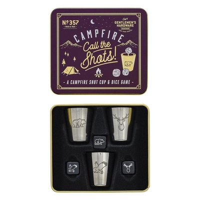Wild & Wolf CAMPFIRE CALL THE SHOTS SHOT CUP AND DICE GAME