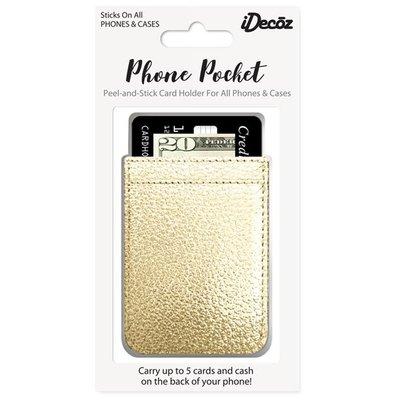 iDecoz Gold Faux Leather Phone Pocket