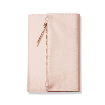 Fringe Blush Faux Leather Clutch Journal