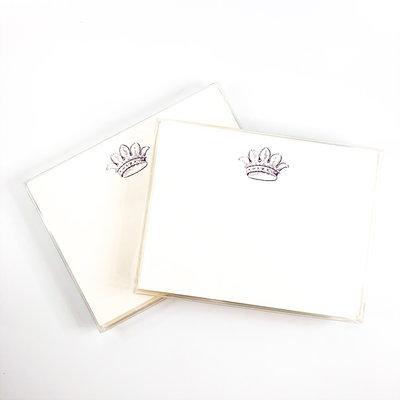 Maison de Papier Crown Flat Cards and Envelopes
