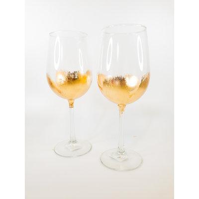 ELM Designs Gold Leaf Wine Glass ELM