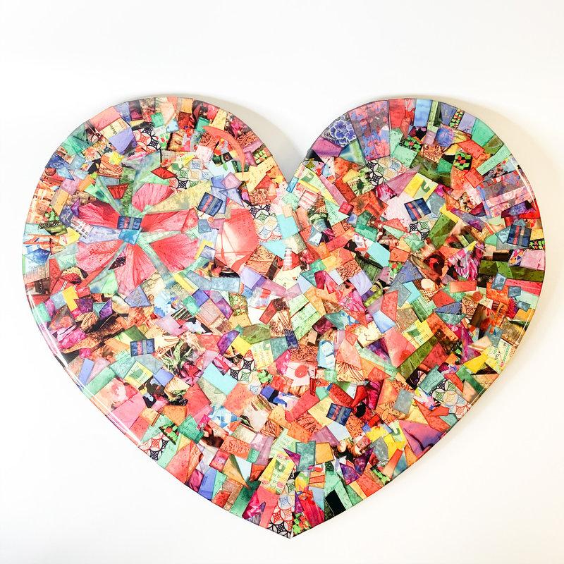 Cynthia Kolls Consignment Cynthia Kolls Large Heart Collage