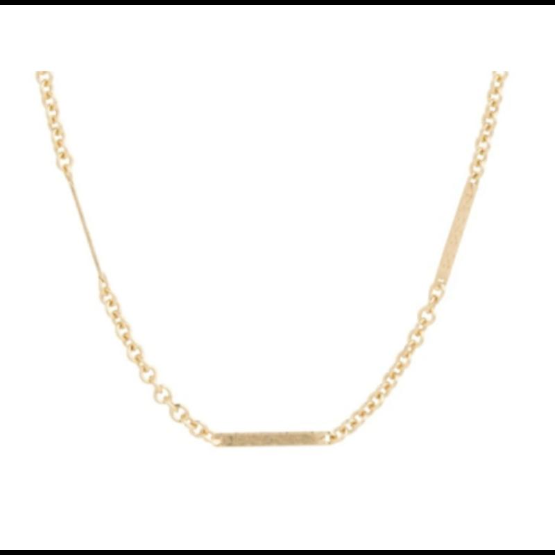E Newton 15'' CHOKER SIMPLICITY BLISS CHAIN - GOLD