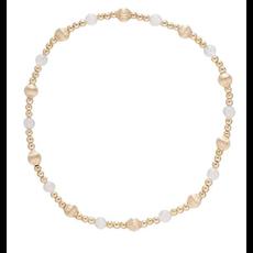 E Newton Dignity Sincerity Pattern 4mm Bead Bracelet - Rose Quartz