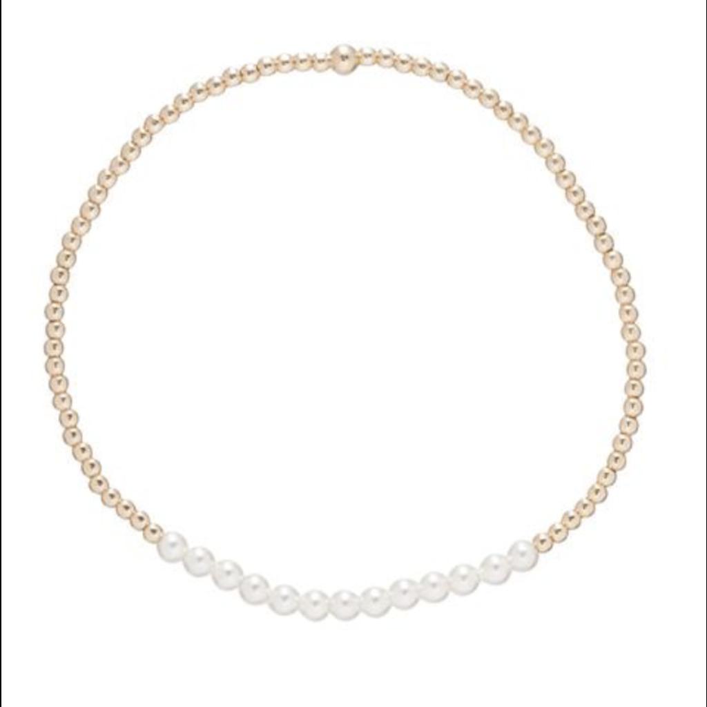 E Newton Gold Bliss 2mm Bead Bracelet - Labradorite
