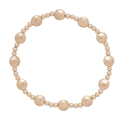 E Newton HONESTY GOLD SINCERITY PATTERN 6MM BEAD BRACELET