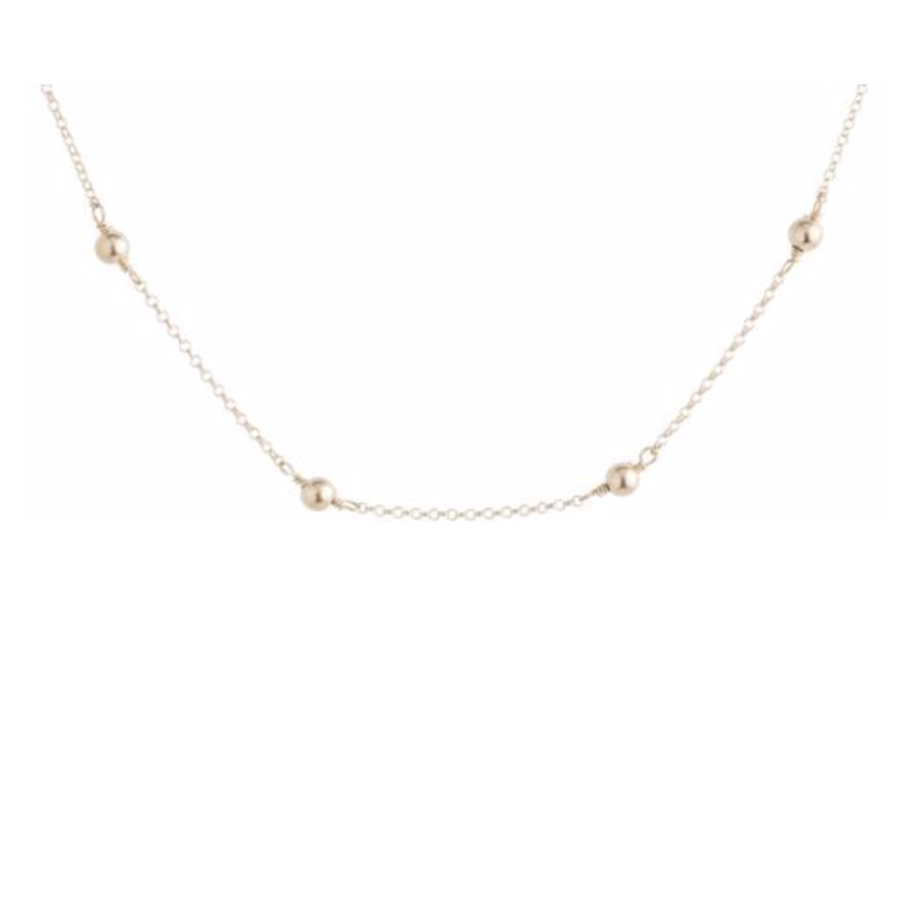 E Newton 15'' CHOKER SIMPLICITY CHAIN GOLD - 4MM BEAD GOLD