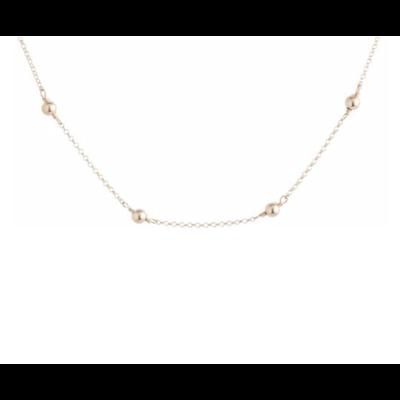 E Newton 15'' CHOKER SIMPLICITY CHAIN GOLD - 4MM BEAD GOLD
