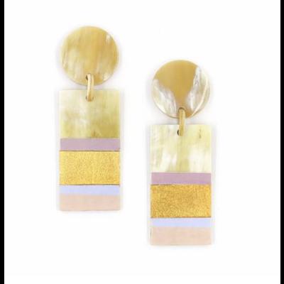 Sunshine Tienda Rose Layered Cabana Earrings