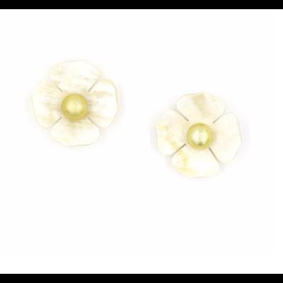 Sunshine Tienda Flower Horn Earrings