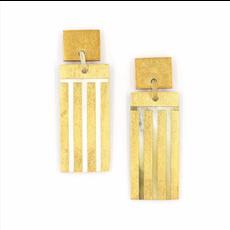 Sunshine Tienda Comb Gold Horn Earrings
