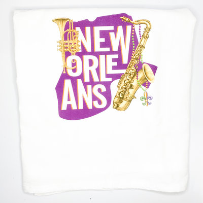 Mary Lake Thompson New Orleans Outline Bagged Towel