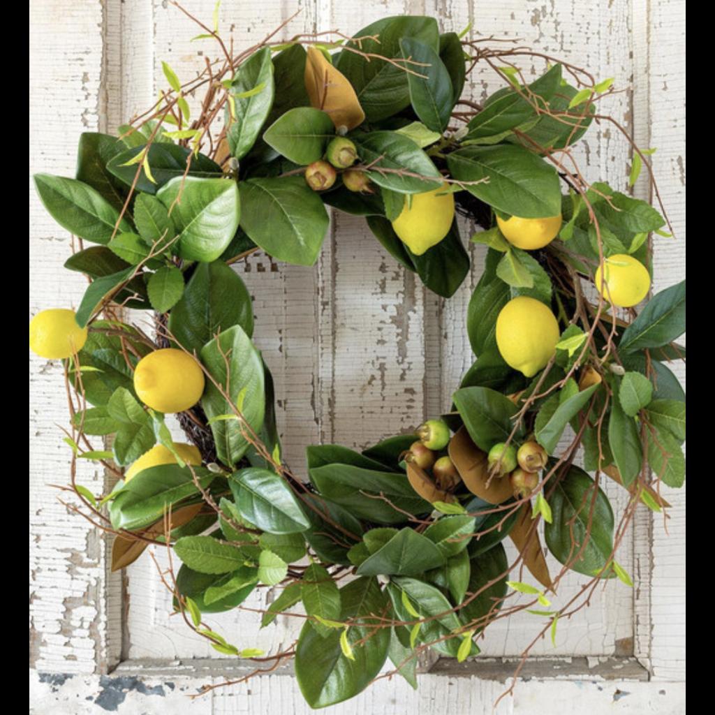 Park Hill Lemon & Magnolia Leaf Wreath