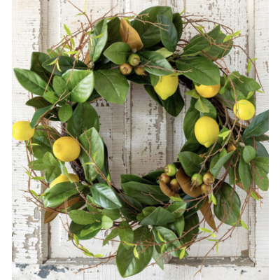 Park Hill Lemon & Magnolia Leaf Wreath