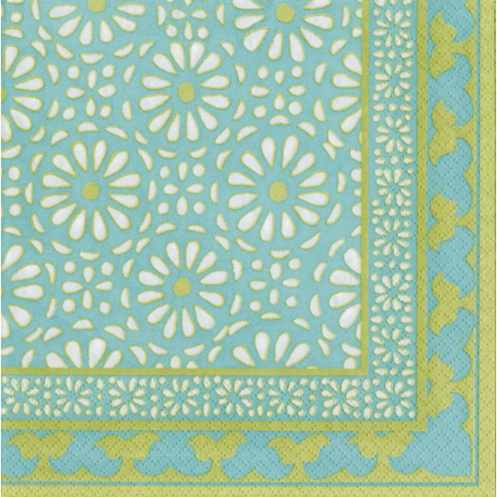 Caspari Alhambra Turquoise Cocktail