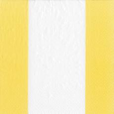 Caspari Bandol Stripe Yellow Cocktail