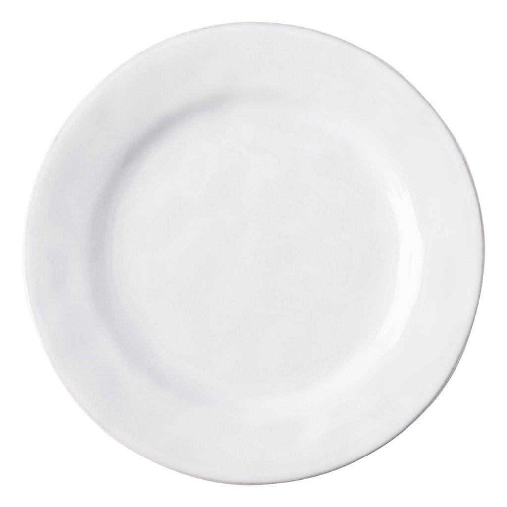 Juliska Puro White Side/Cocktail Plate Display