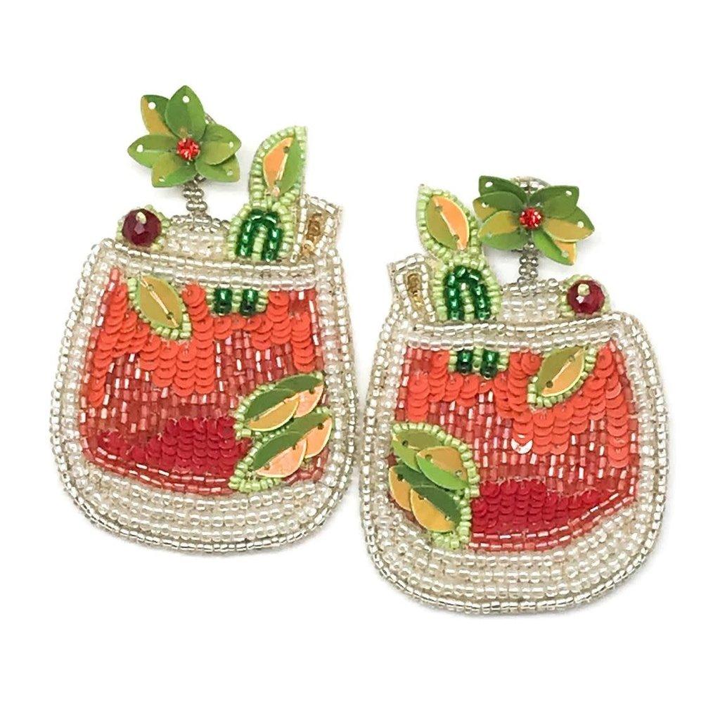 Allie Beads Citrus Cocktail Earrings
