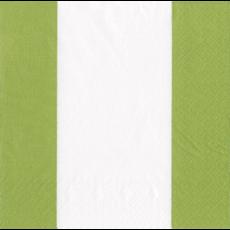 Caspari Bandol Stripe Moss Green Cocktail