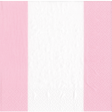 Caspari Bandol Stripe Pink Cocktail