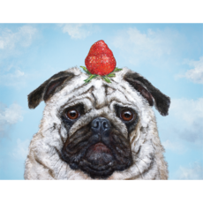 Hester and Cook Hester and Cook Strawberry Pug Card - A2