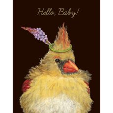 Hester and Cook Hester and Cook On The Nest Card - Gold Foil - ''Hello, Baby!''