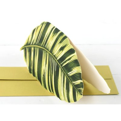 Hester and Cook Die Cut Banana Palm Leaf Card
